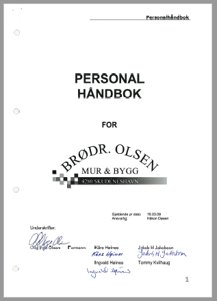 Personalhåndbok