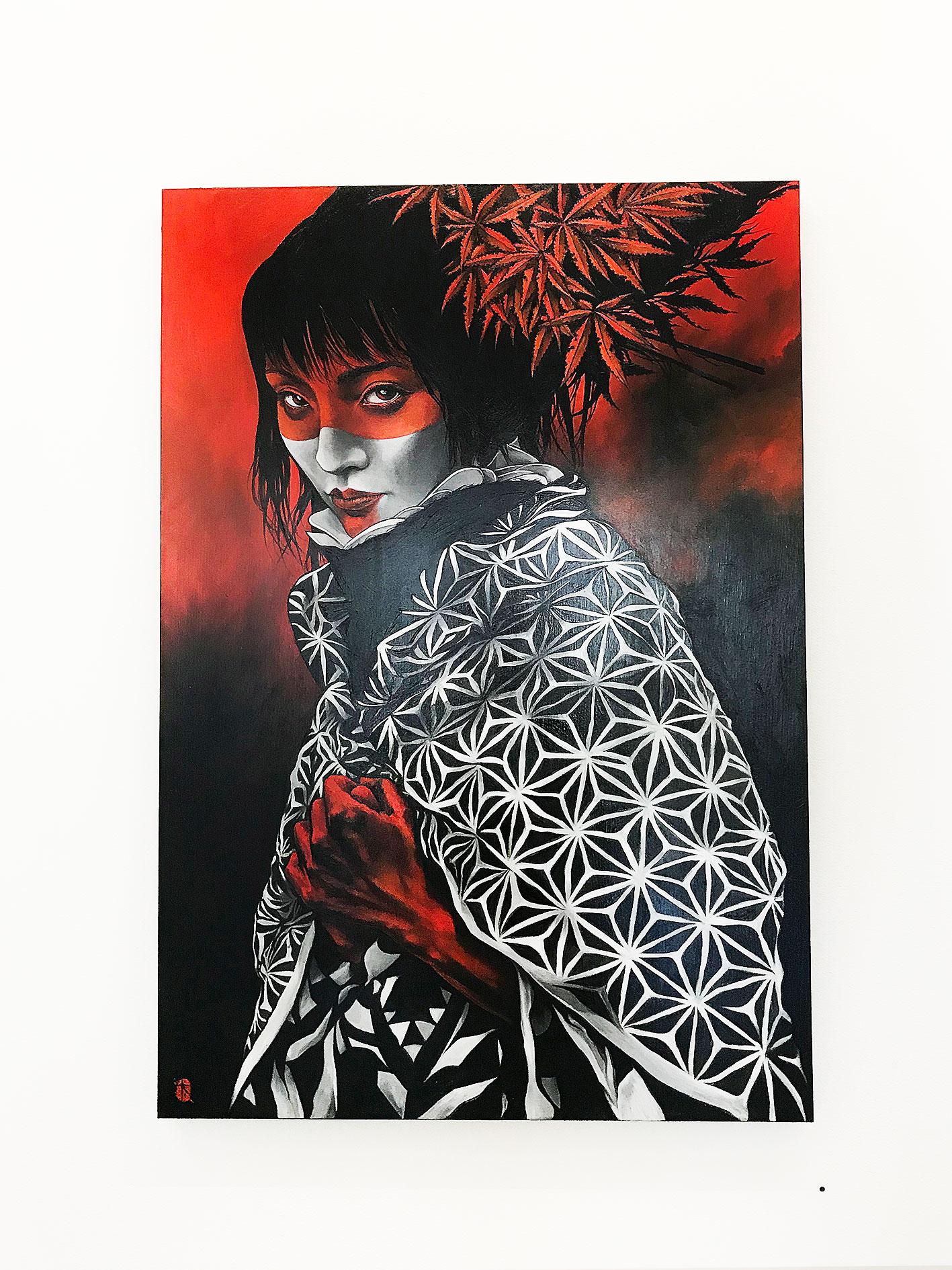Aki 2018 Oil on cradled wood panel 610 x 915 mm