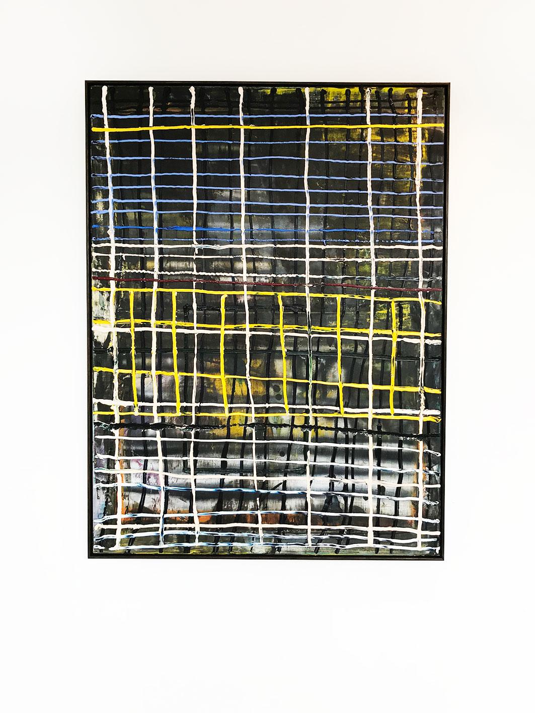 Nathan Jokovich -  Thread  2018 Oil and Acrylic Aerosol on Canvas 102.4 x 152.4 cm