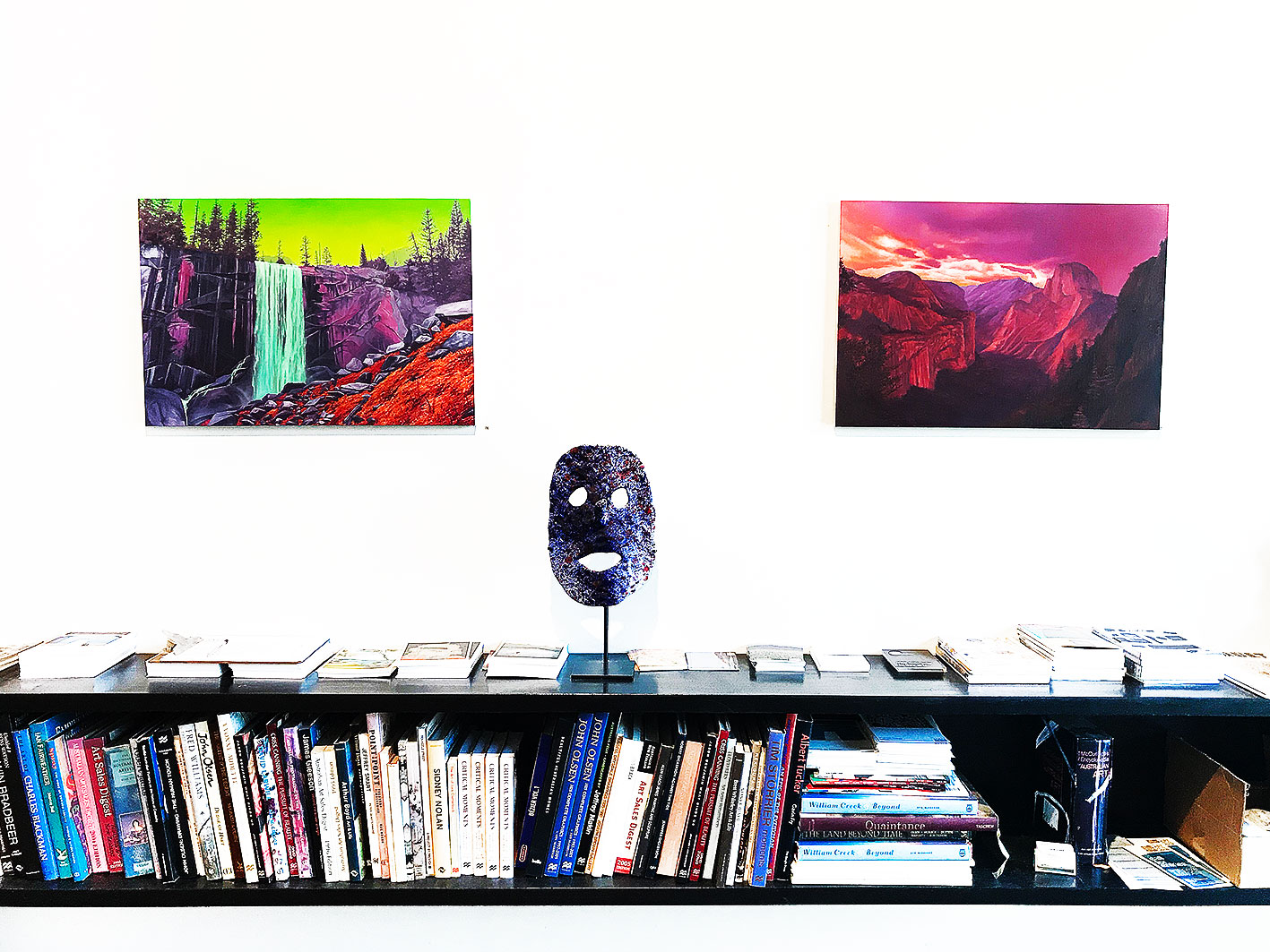 (pic 01) Jack Rowland -  Vernal Falls , Oil on linen 50 x 73 cm  (pic 02) Jack Rowland -  Yosemite Valley , Oil on linen 50 x 73 cm