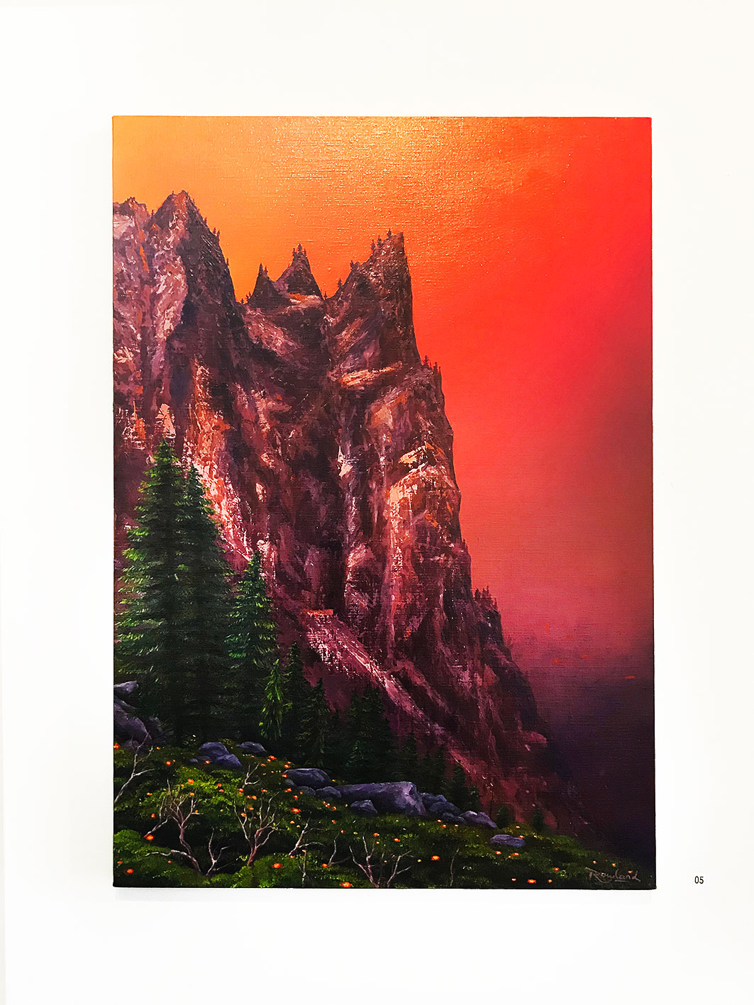 Jack Rowland -  Sentinel , Oil on linen 73 x 50 cm