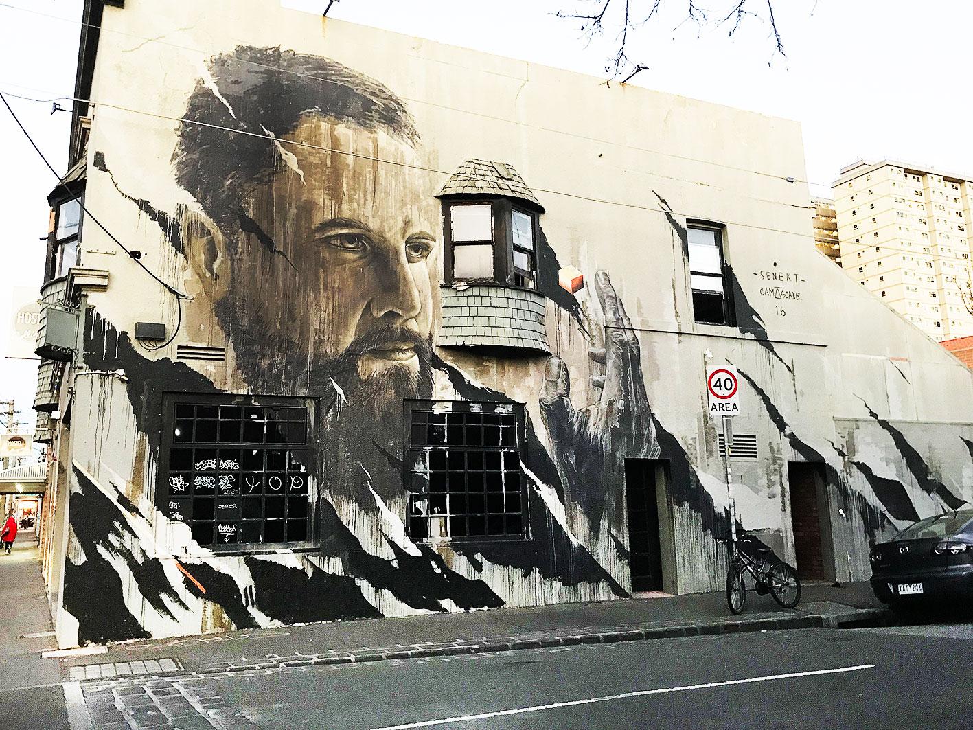 July 2018 - Harmsworth st, Collingwood, Melbourne - Artist :  CamScale  x  Senekt