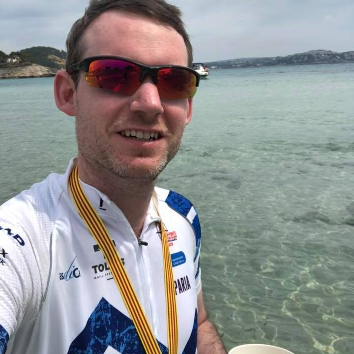 After: George was able to complete his charity bike ride with ease!