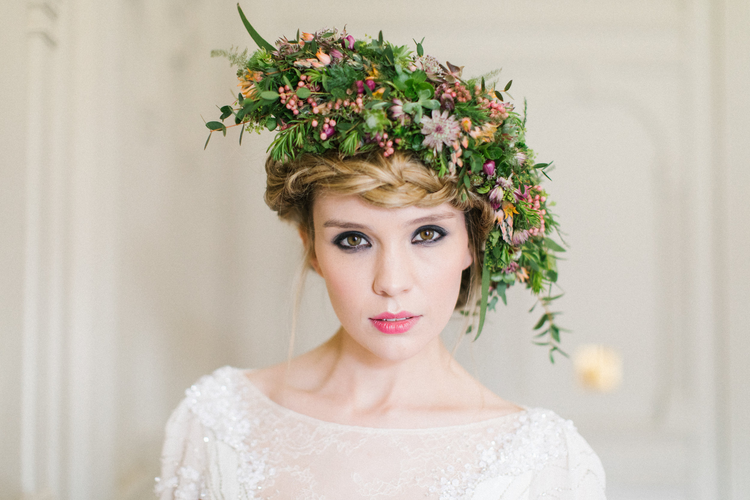 Large or small hair flowers are a special touch on the day. Working with you and the hairdresser is essential to create the look you want.