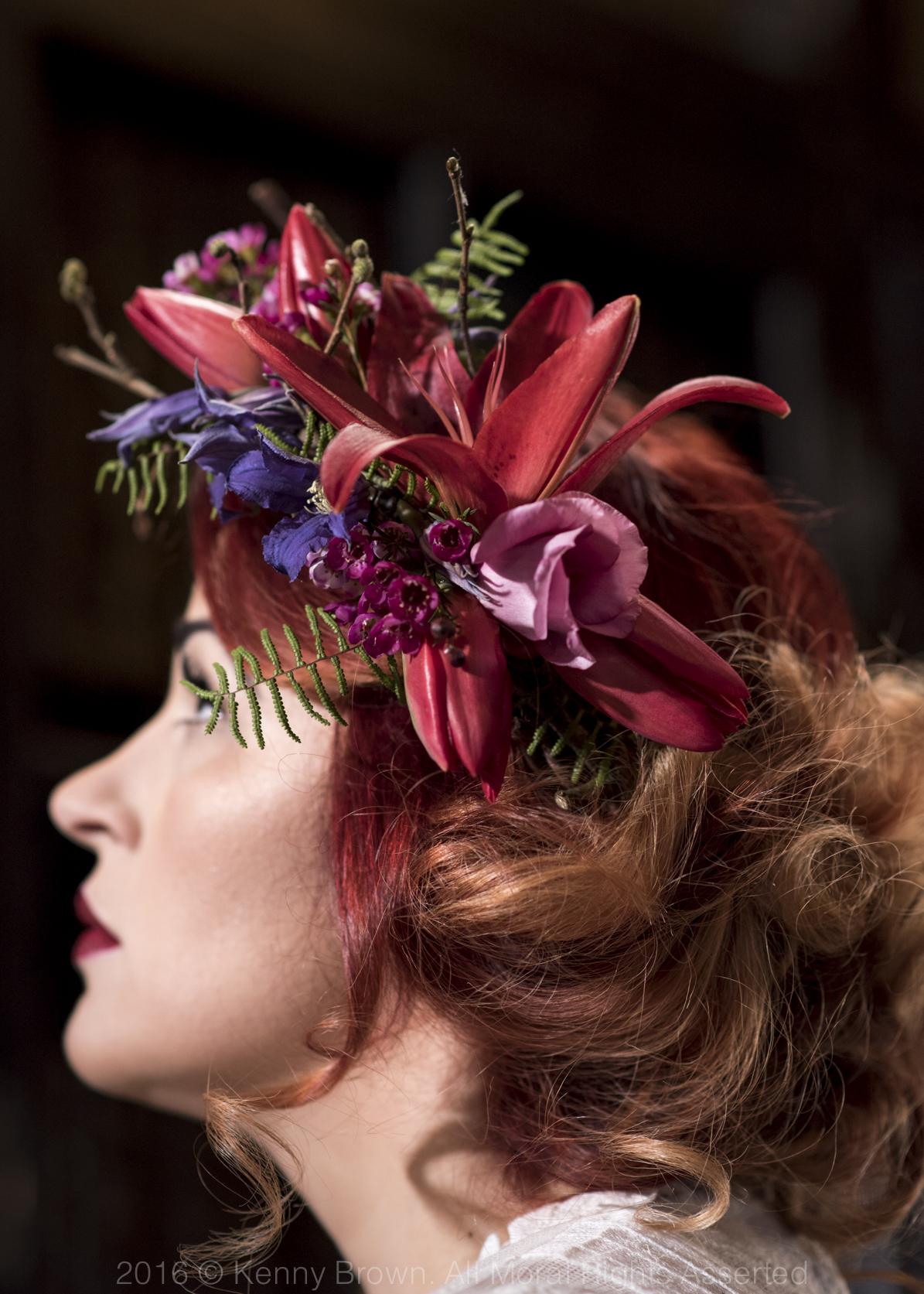 Hair flowers, Paragon floral design