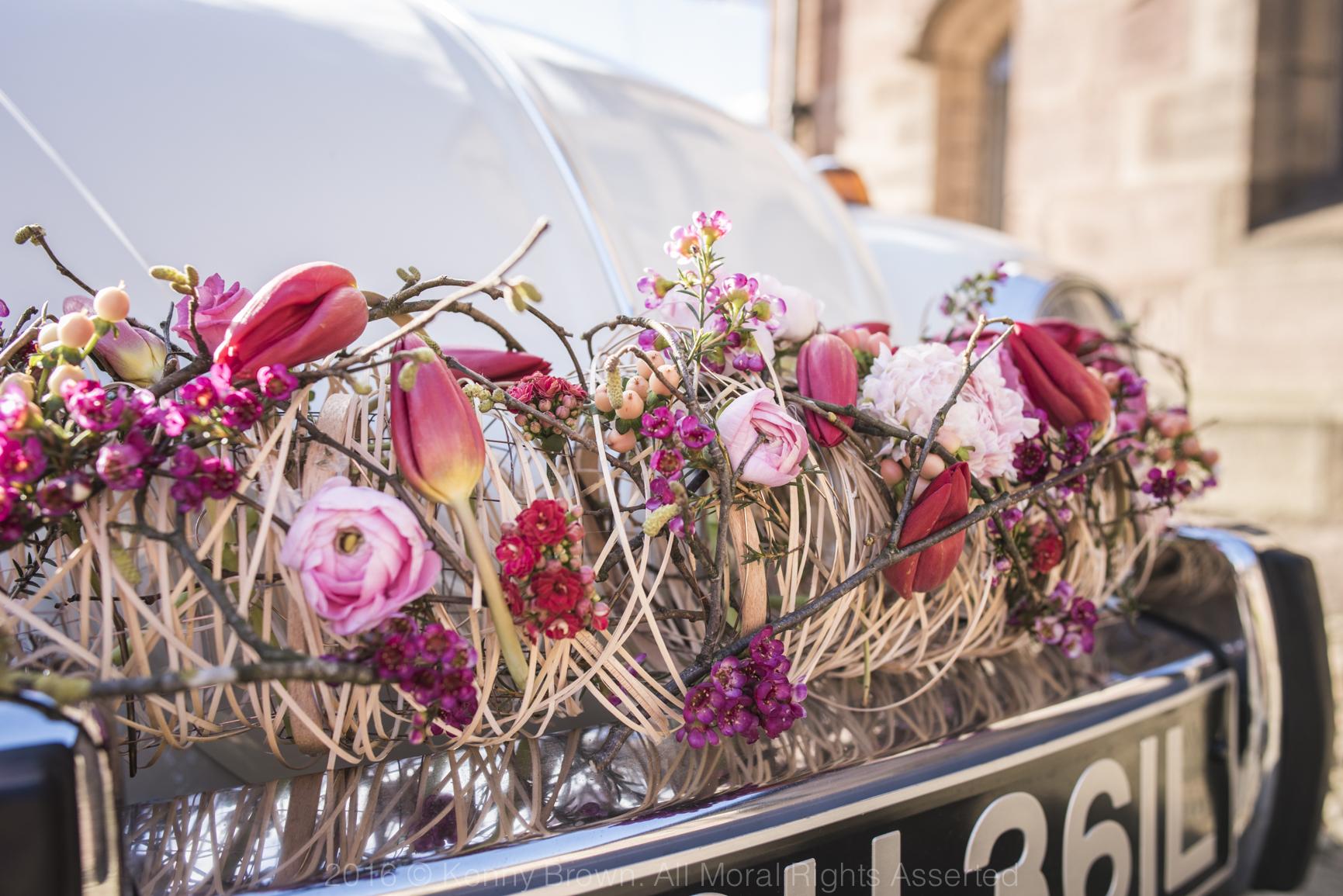 Wedding car, Paragon floral design