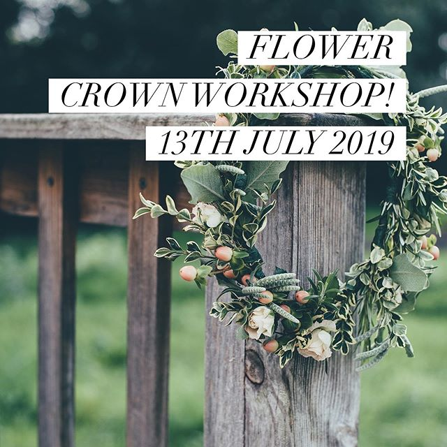 New date for a flower crown workshop!  Book now from the link in the bio👆👆👆This workshop will be held in he beautiful greenhouses of Lane End Cottage Gardens. We will pick some of the fantastic foliage's and flowers from the gardens to use in our designs and enjoy plenty of refreshments in a relaxed environment. Looking forward to seeing you there!