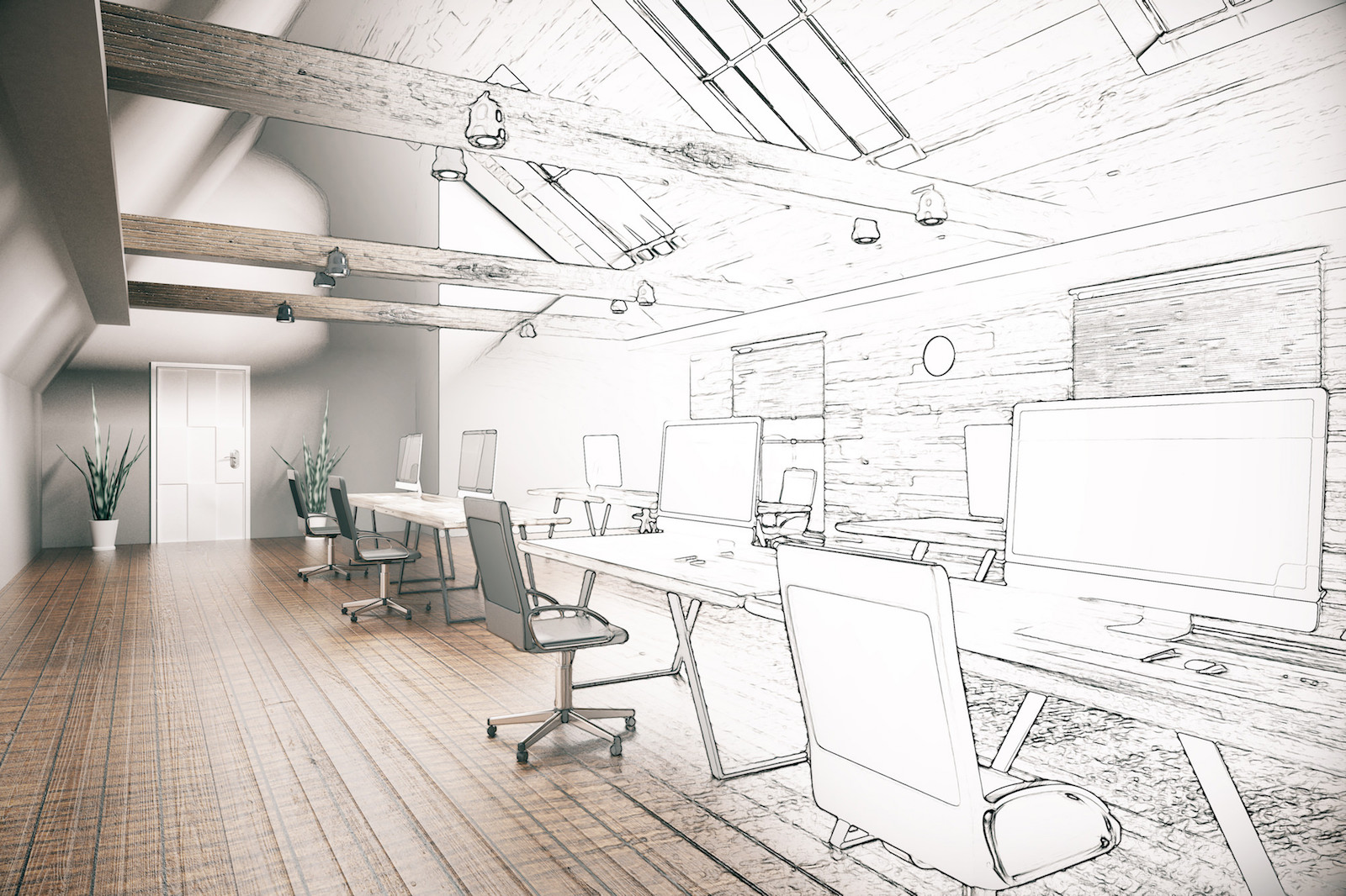 a new office from concept drawing is build and ready to be moved into by a small business.jpg