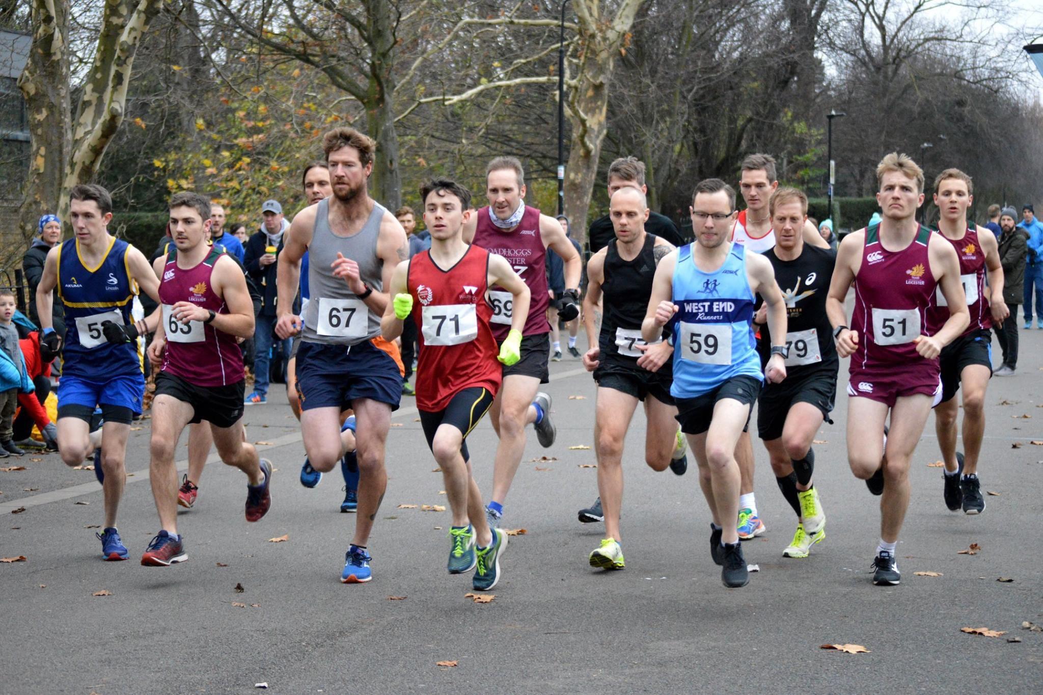 The 2018 Men's race setting off