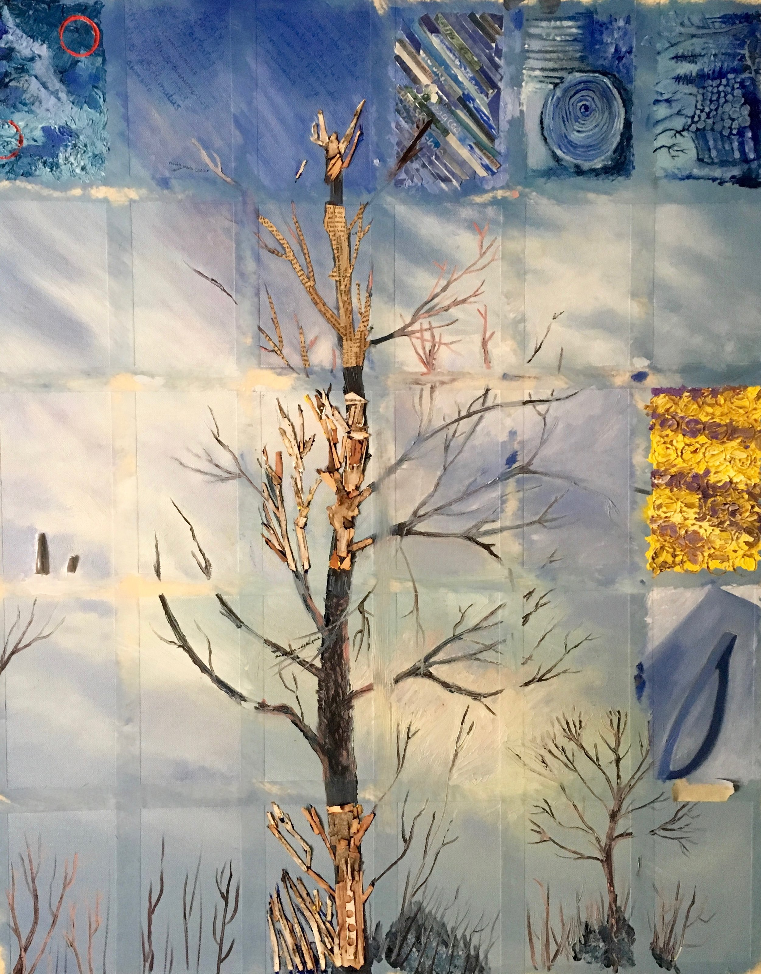 - A birch tree rises on our canvas.We give thanks to our forest friends for all the inspiration they provide.