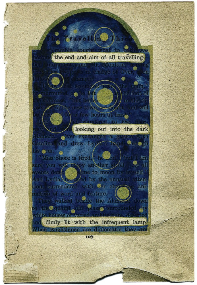 """The End and the Aim"" by Ruth Bavetta — from   Rattle #29, Summer 2008  Tribute to Visual Poetry"
