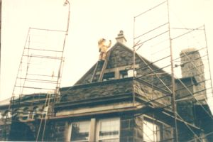 Waterproof coating to stone work