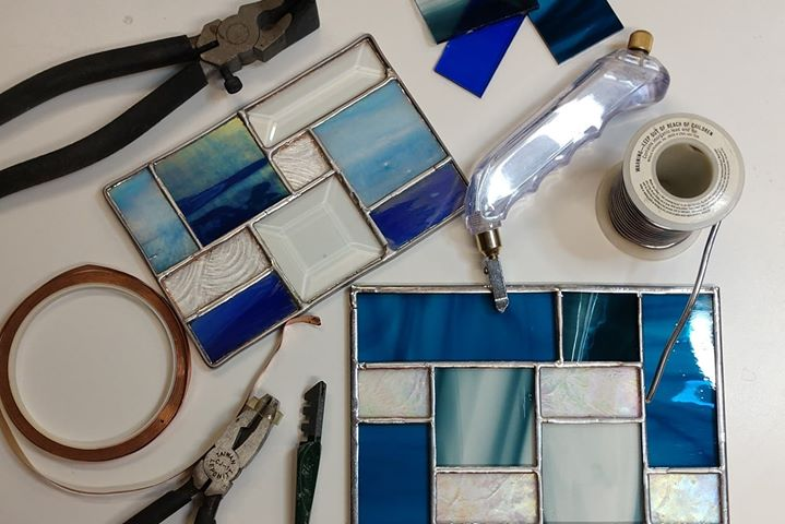 Stained Glass Panel and Tools
