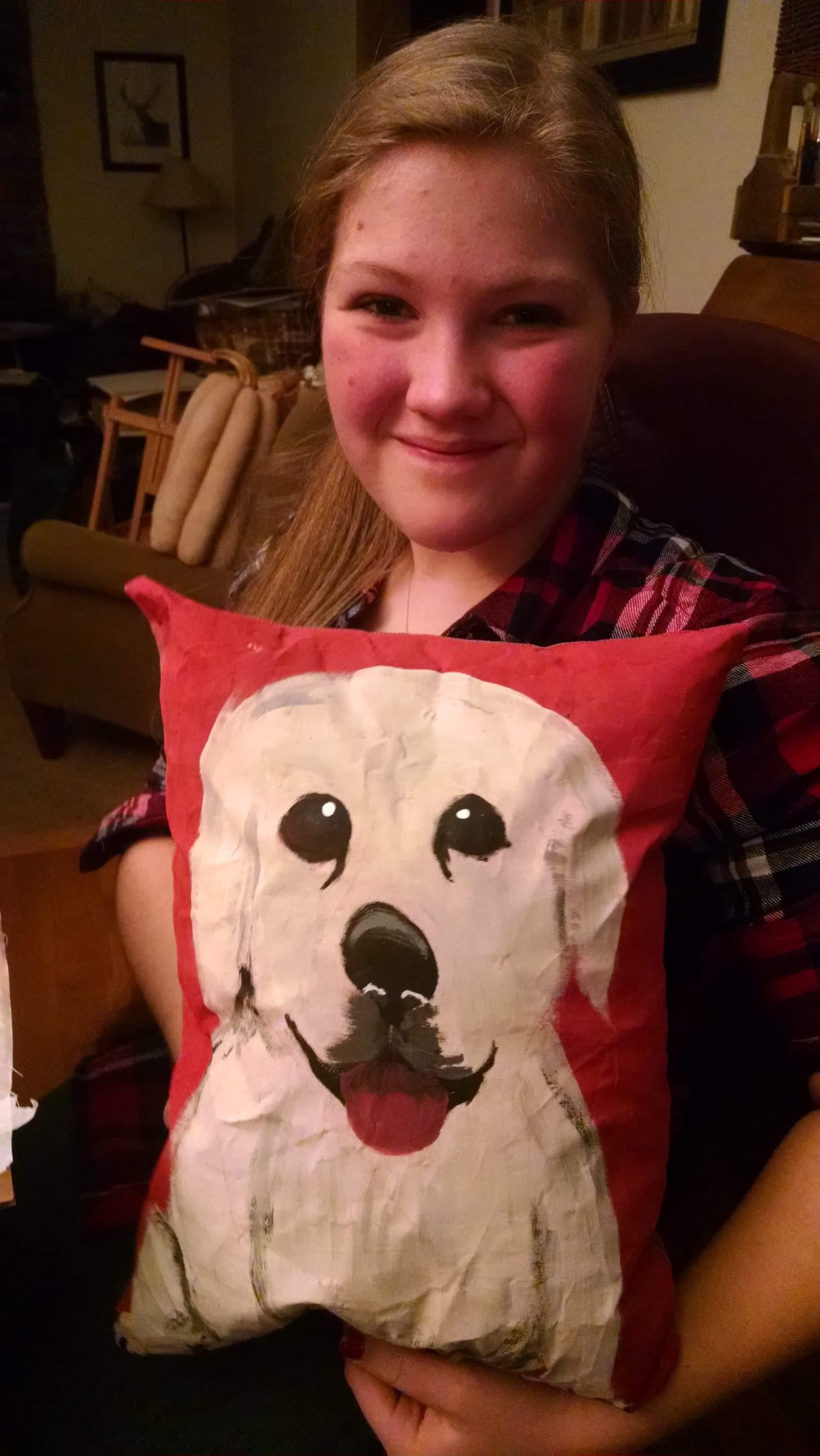 Painted Pillow Dog.JPG