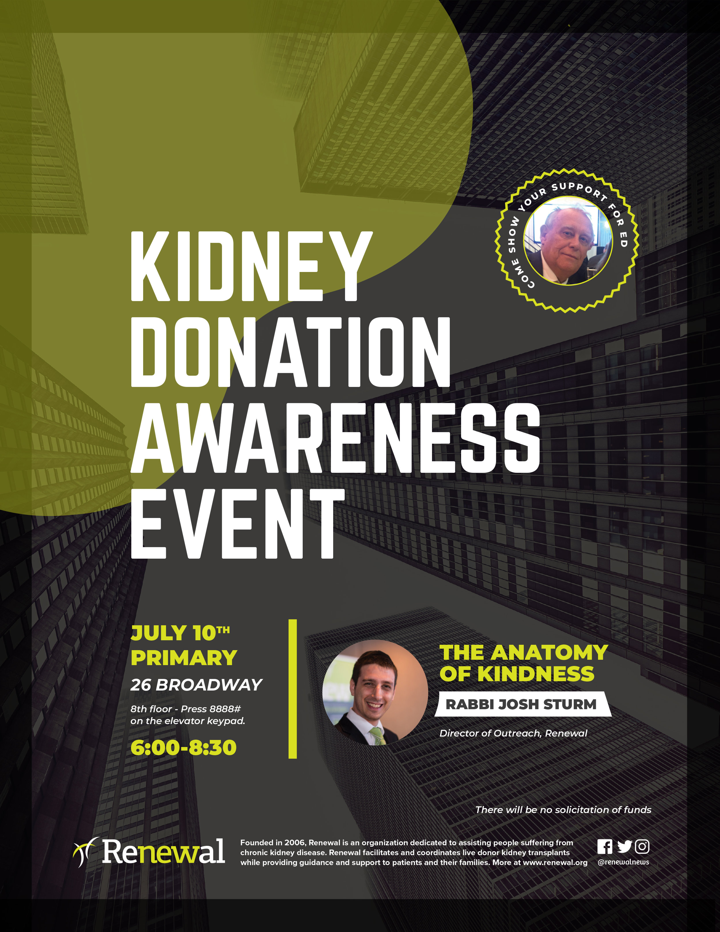 KIDNEY DONATION AWARENESS EVENT — Primary
