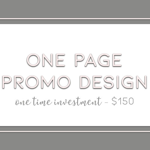 One Page Promotional Designs