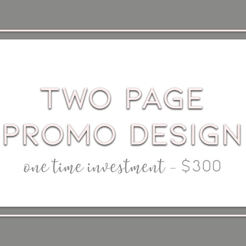 Two Page Promotional Designs