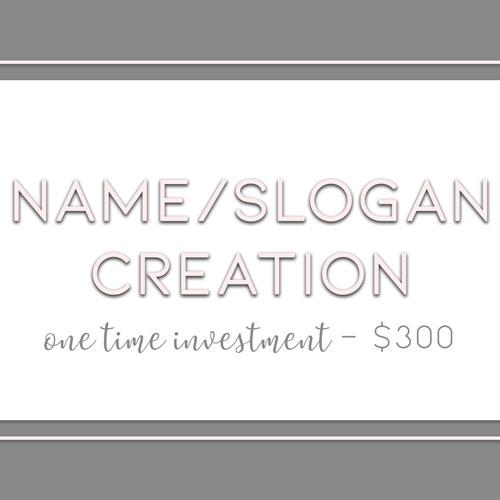 Name & Slogan Creation