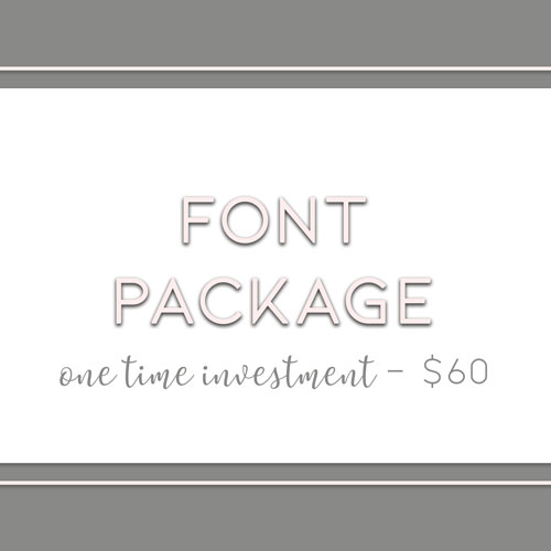 Font Package