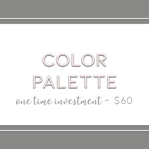 Color Palette Creation