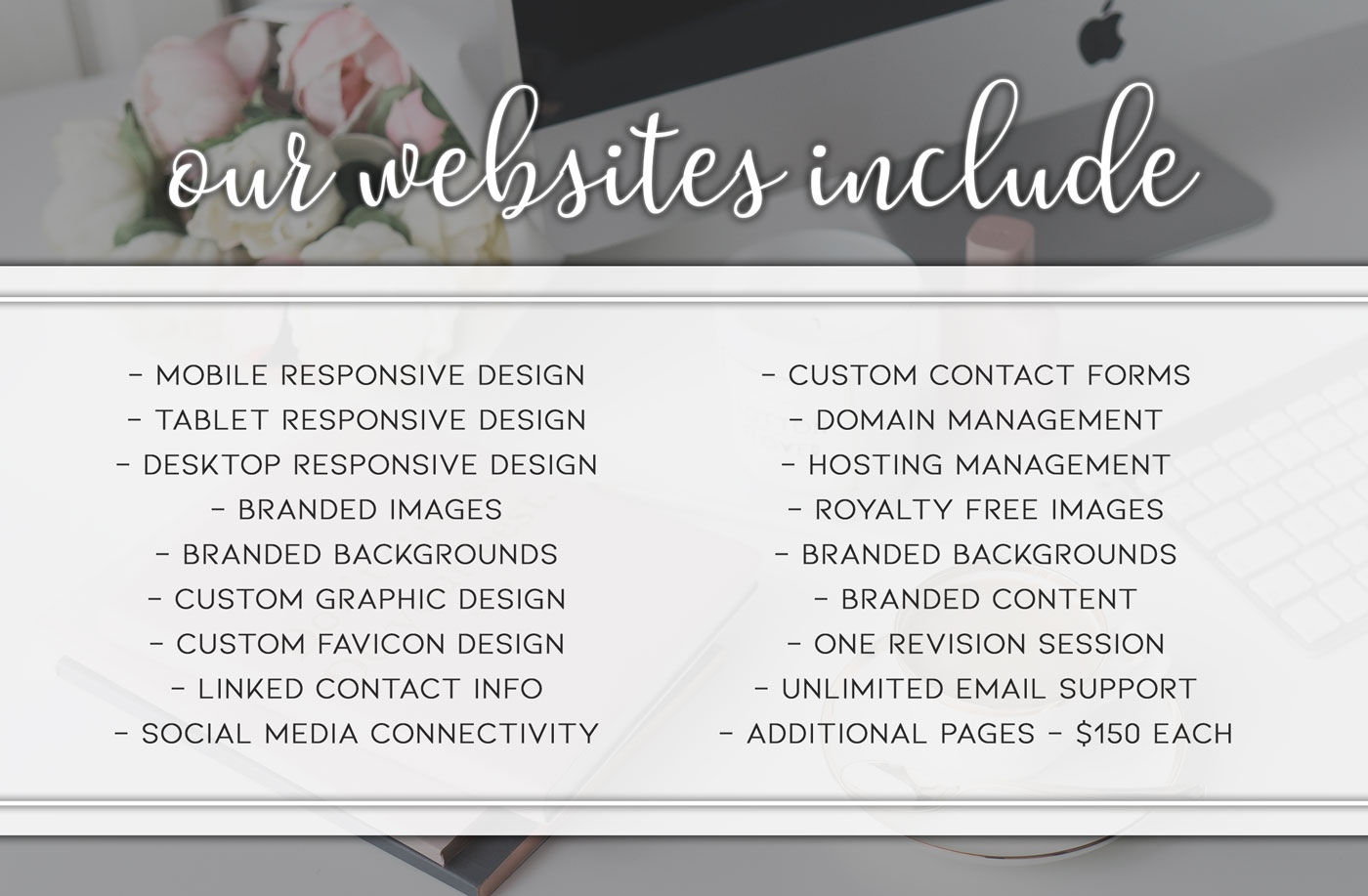 Website Designs Include these Services
