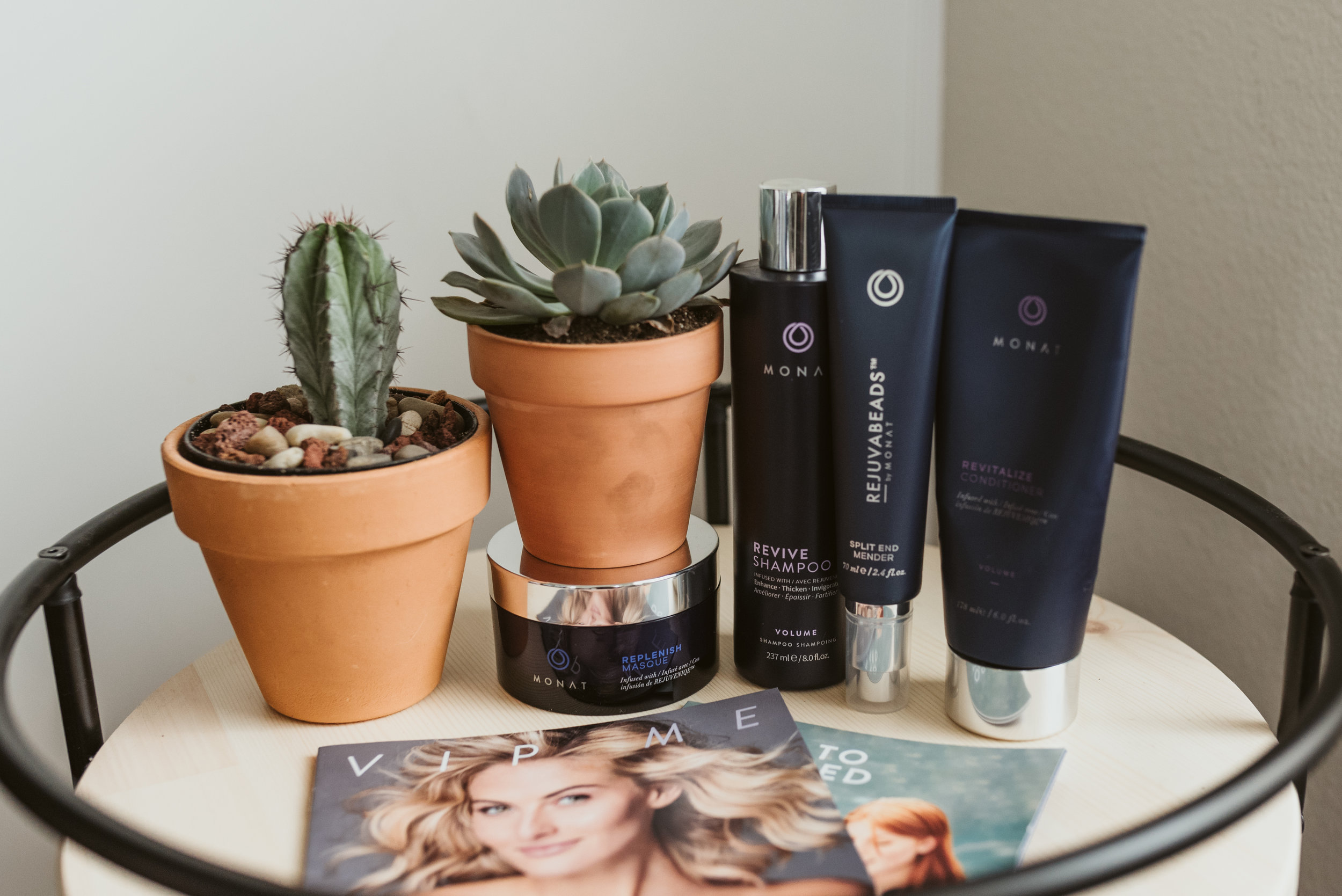 My Monat Favorites: Revive Shampoo, Revitalize Conditioner, Replenish Masque, and Rejuvabeads