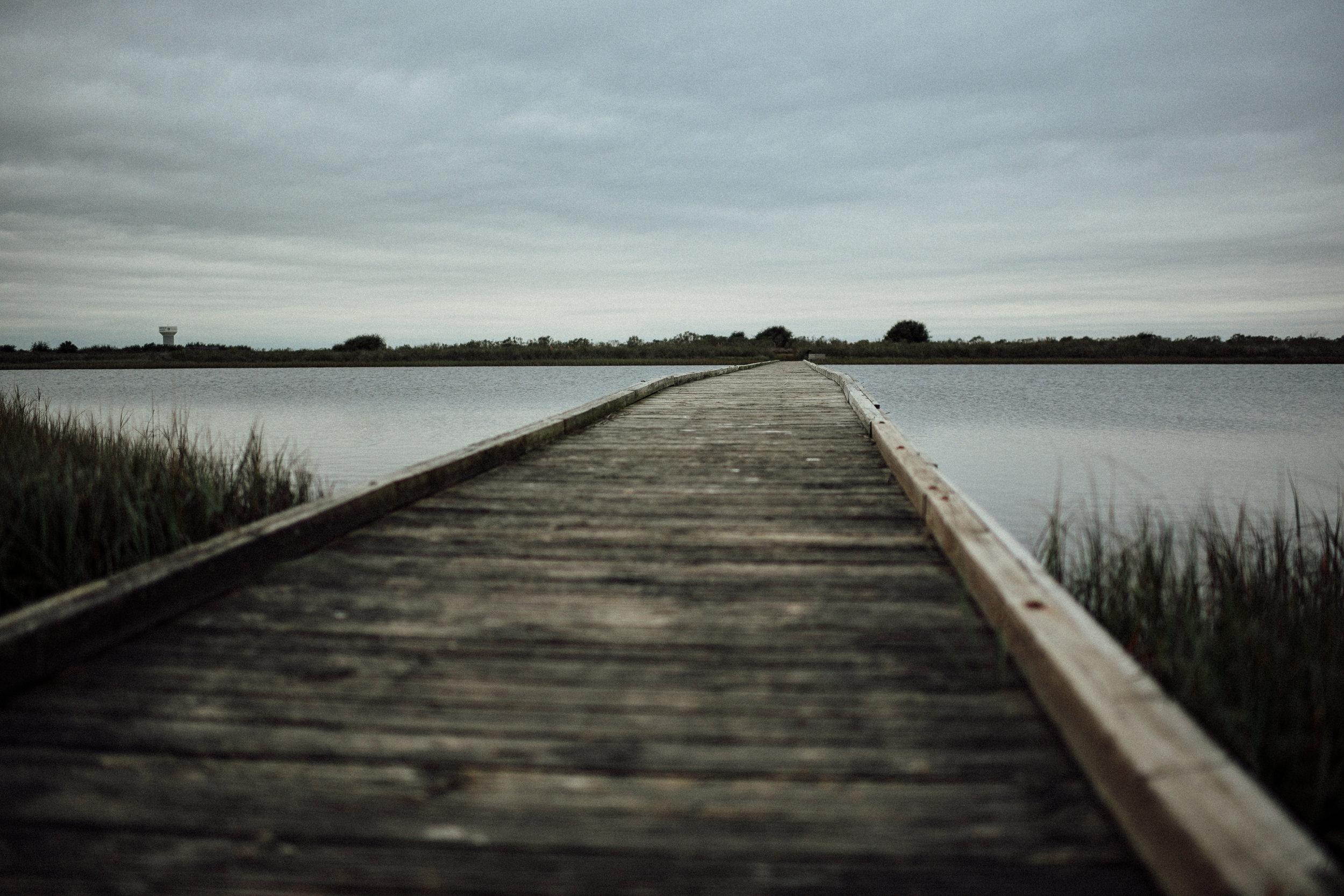 Walkways over the intercoastal at Galveston Island State Park