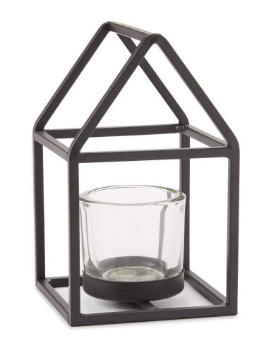 Metal House Tealight Candle Holder -
