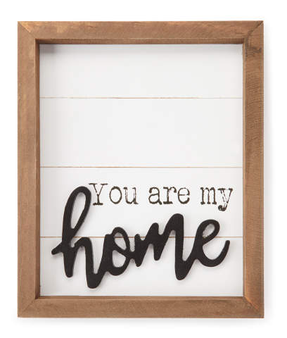 You Are My Home Wood Panel Framed Plaque -