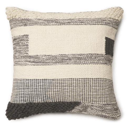 Gray Odessa Throw Pillow (17X17) -