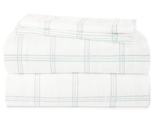 Plaid Microfiber 4-Piece Sheet Set -
