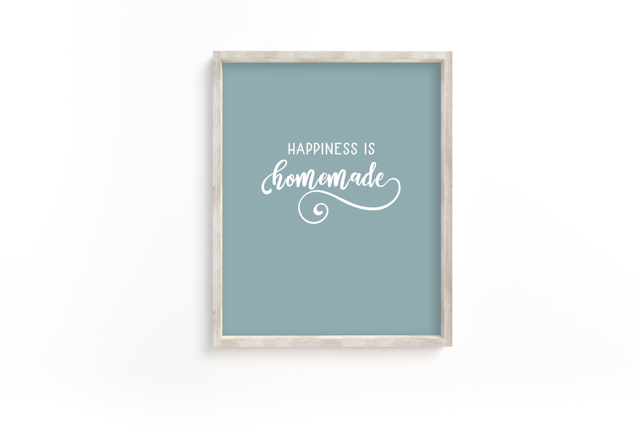 Happiness is Homemade Wall Art Printable