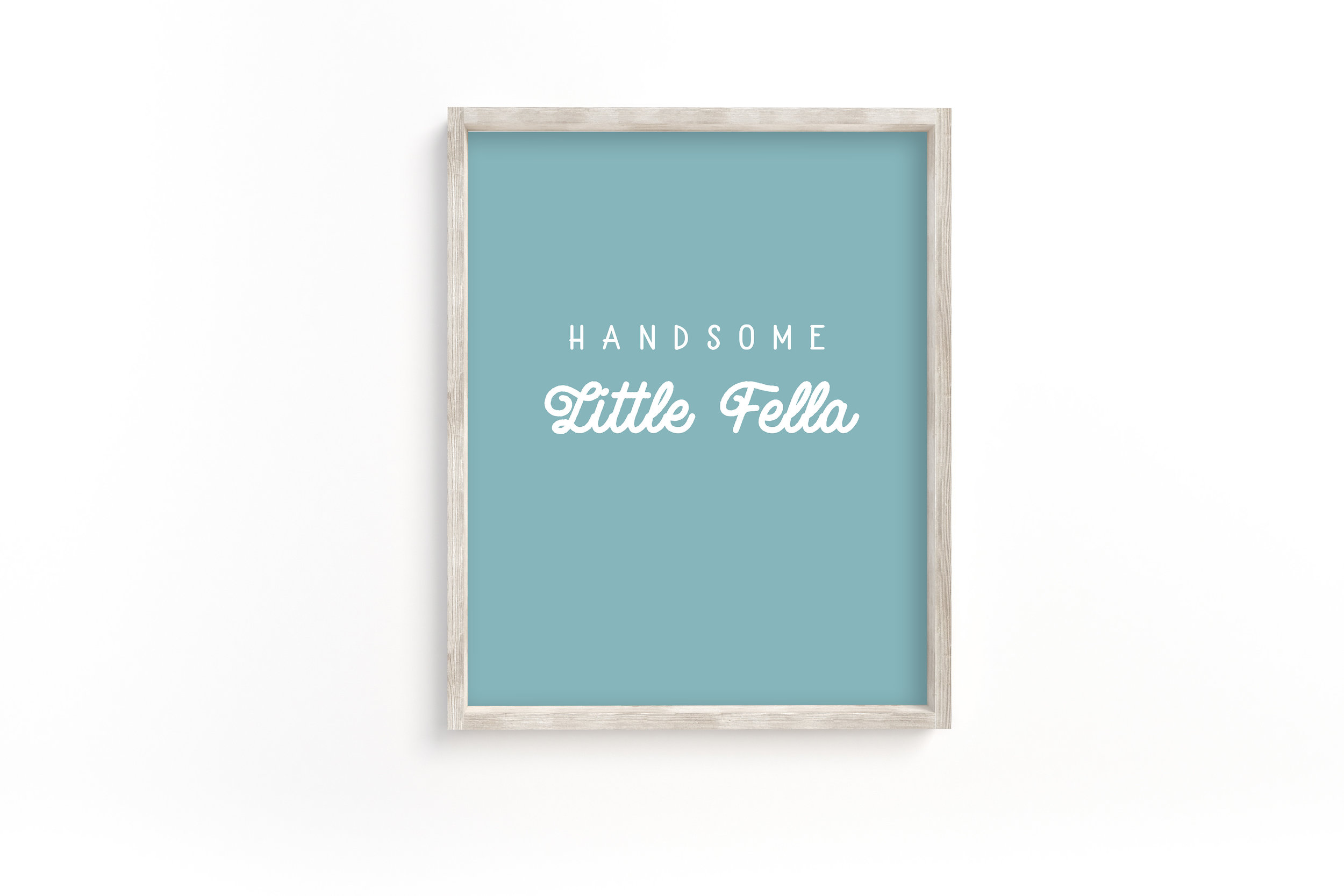 Handsome Little Fella Printable Wall Art for the boy nursery