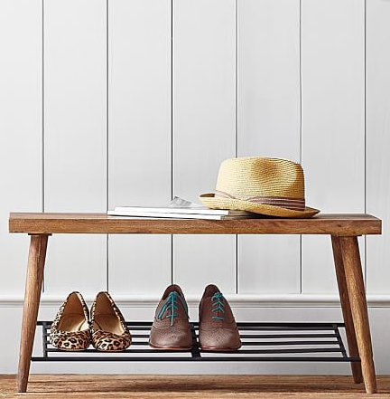 Lucy Shoe Rack Bench Pottery Barn