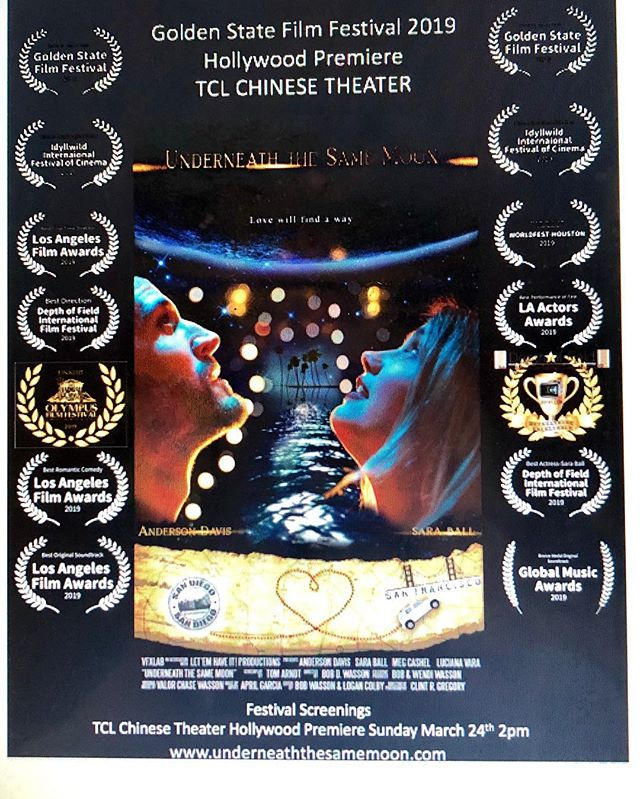 Underneath the Same Moon is finally here!  Go see this adorable fun movie at its premiere on Sunday, March 24th at 2:00 in Hollywood!  Film location for wedding scenes throughout the movie is none other than, Chapel or Orange! #chapeloforange #chapeloforangewedding