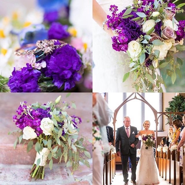 We love purple and we love your arrangements @oceanicflowers! 💜 - 📸 repost @oceanicflowers - I love PURPLE everything Venue @chapeloforange Florals @oceanicflowers DJ @ensembleevents Cake @greatdanebakingco  Photo @wheelandphoto