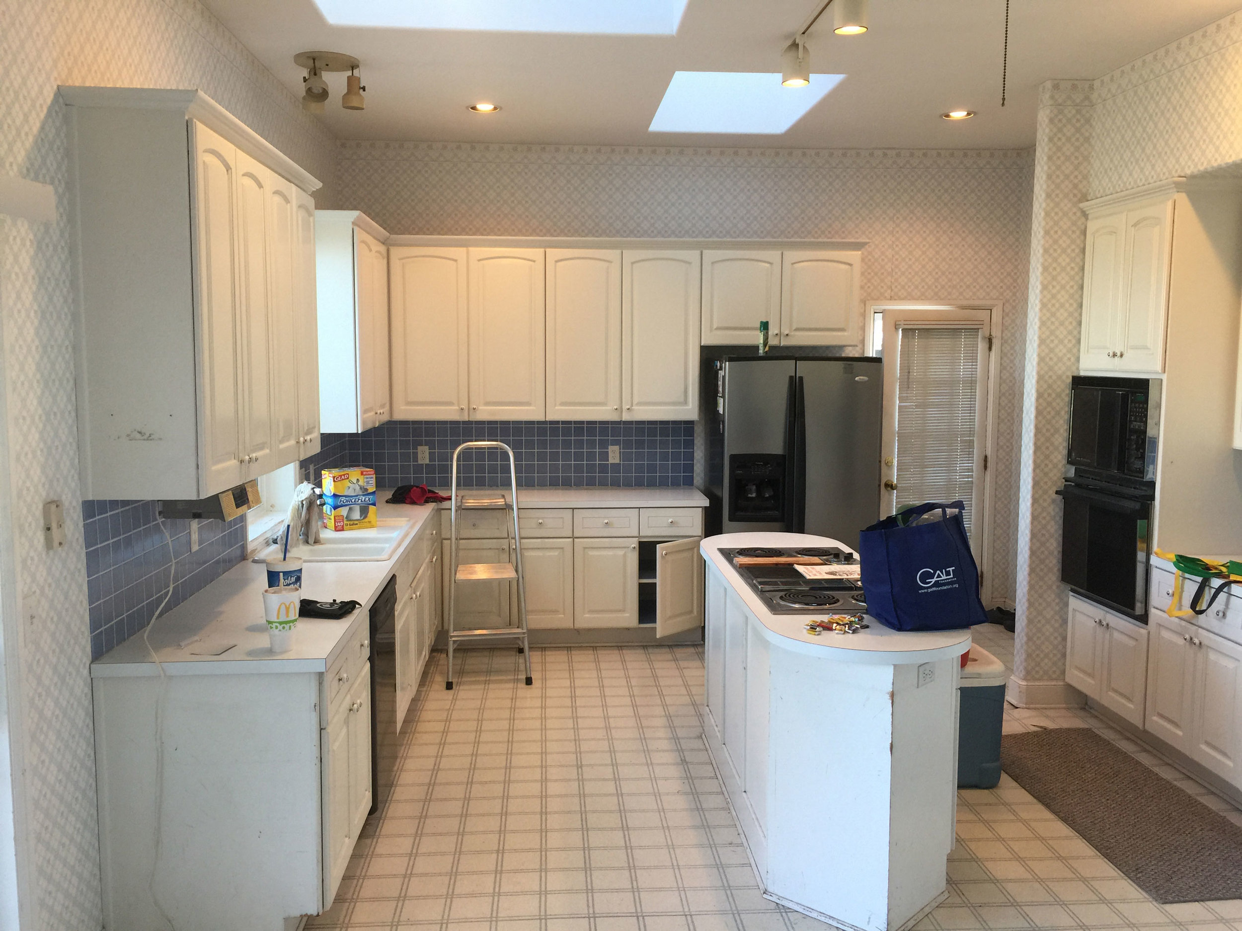 Kitchen Remodel with Foundation Repairs Before
