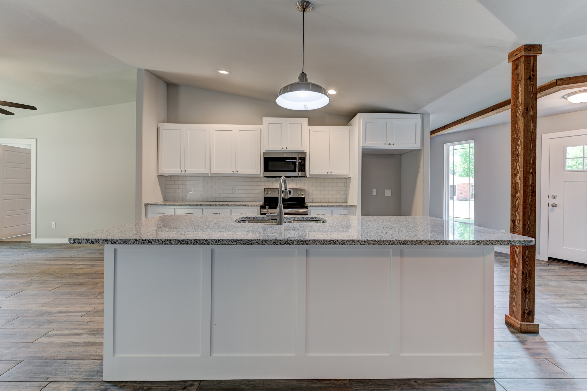 New kitchen with large island