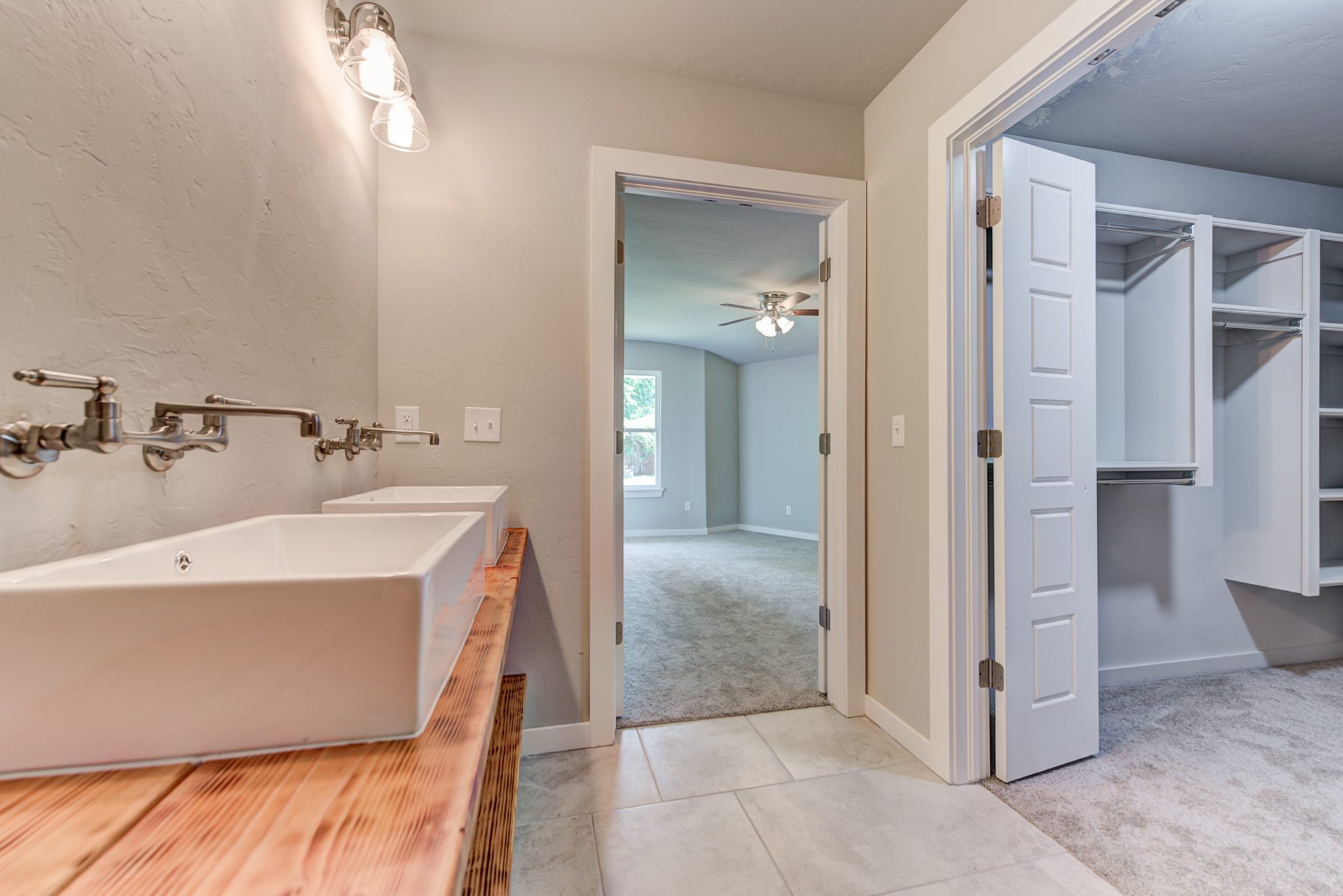 Updated master bathroom and closet
