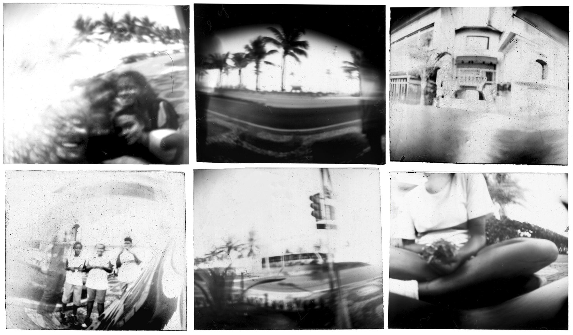 Algumas imagens produzidas e reveladas pelos alunos. /  Some images produced and developed by the students.