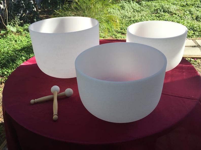 99.99% Clear Quartz Crystal Singing Bowls