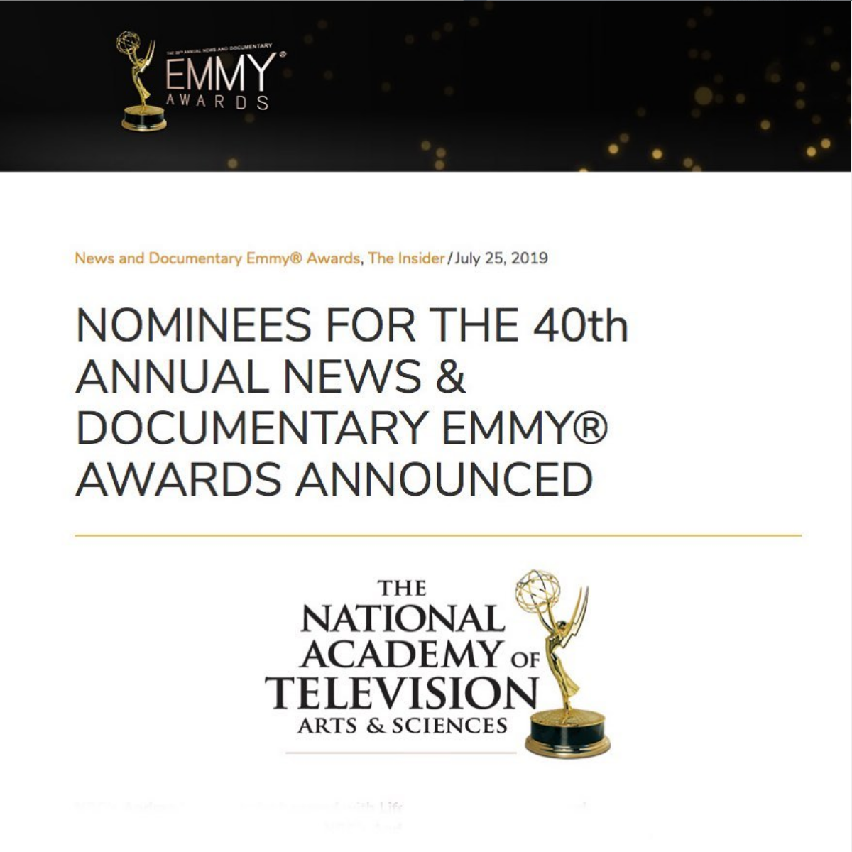 Emmy Awards will take place on September 26th, 2019!