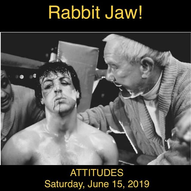 When life gets rocky... Rabbit Jaw!  We will be at the Mohawk Lounge tomorrow night from 10 to 10:45.  We will be at Attitudes on Saturday from 9 to 11 pm!  Come rock with us! #rabbitjaw #rabbit_jaw #fighter #rocker #rock #music #love #hunger #heart #dance #ropeadope #loseyourself #magic #life