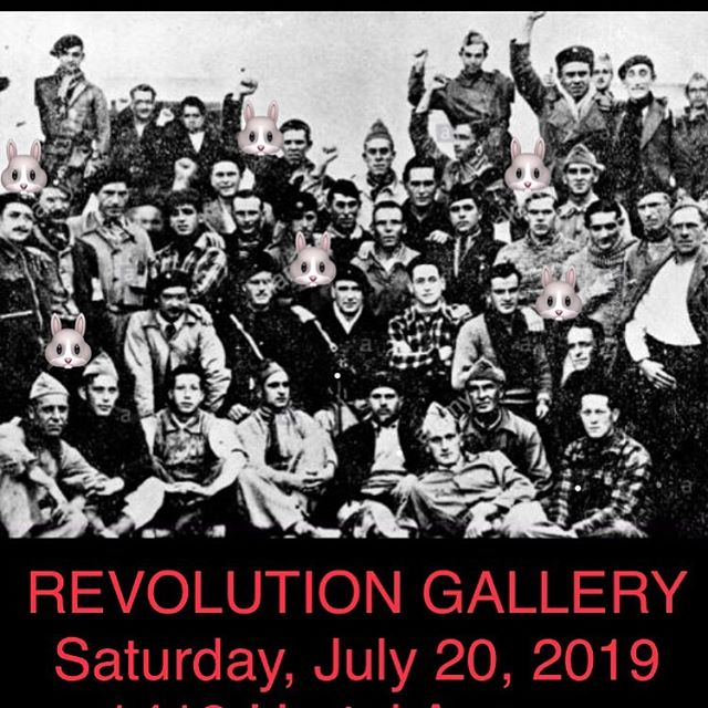 Rabbit Jaw plays Revolution Gallery Saturday July 20th from 8 to 10 pm @revolutiongallery #revolution #rabbit_jaw #rabbitjaw #spanishcivilwar #theclash #spanishbombs #yotequiero #corazon #siempre #love #always #all #ways #forever #music #dance #life #art #solidarity