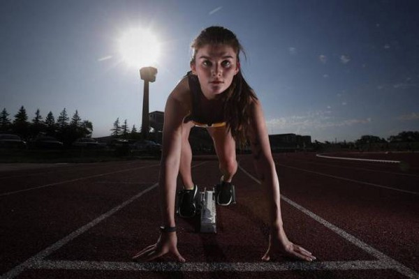 Tracie competed at the North American Indigenous Games. (Courtesy of John Woods / Globe and Mail)