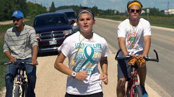 Tracie raised awareness for missing and murdered indigenous women and girls through a four-day 115-kilometre run. (Courtesy of Toronto Metro)