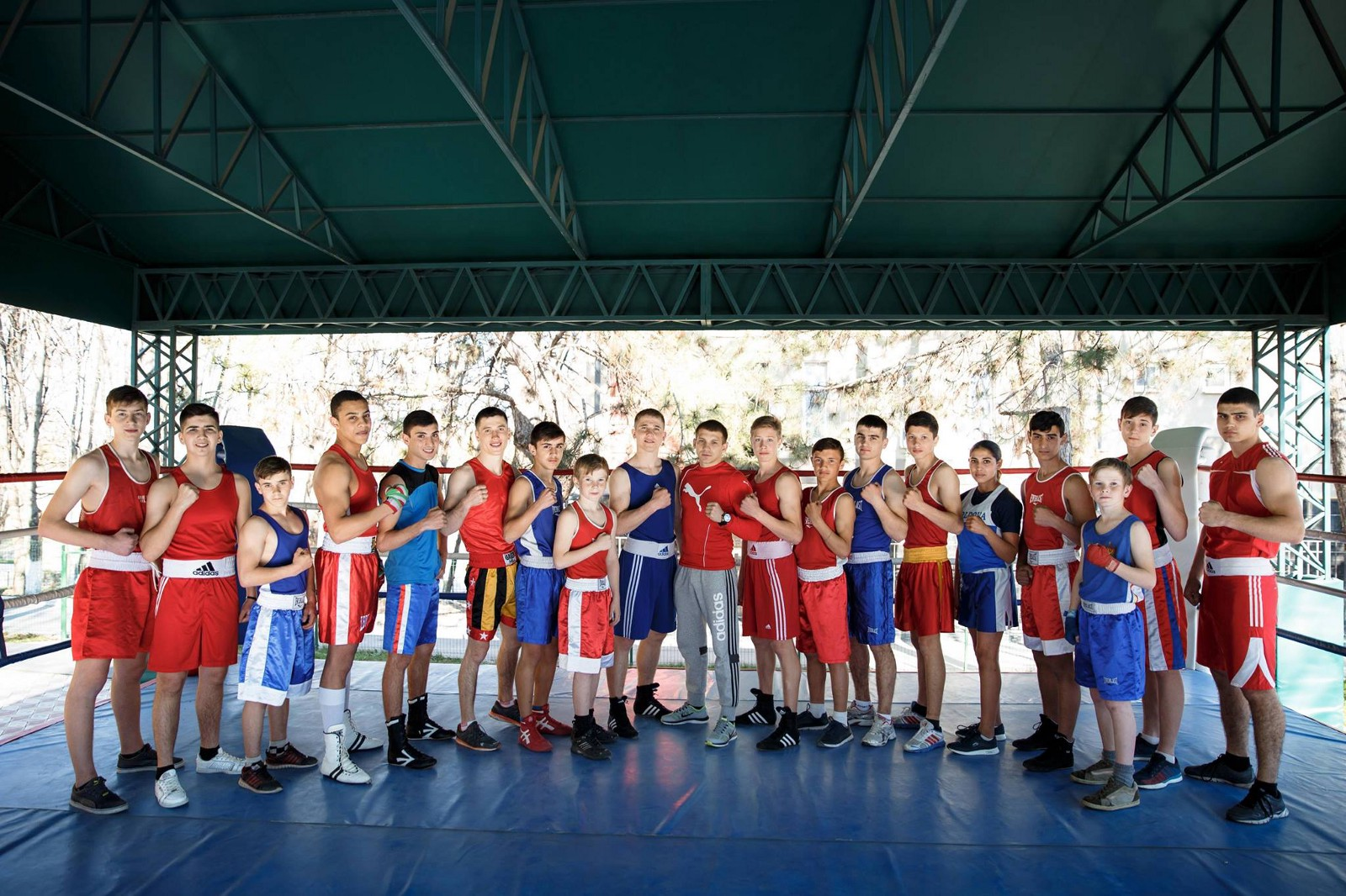 Stela is the only girl in her boxing club in Hincesti, Moldova. (Courtesy of Stela Facebook)