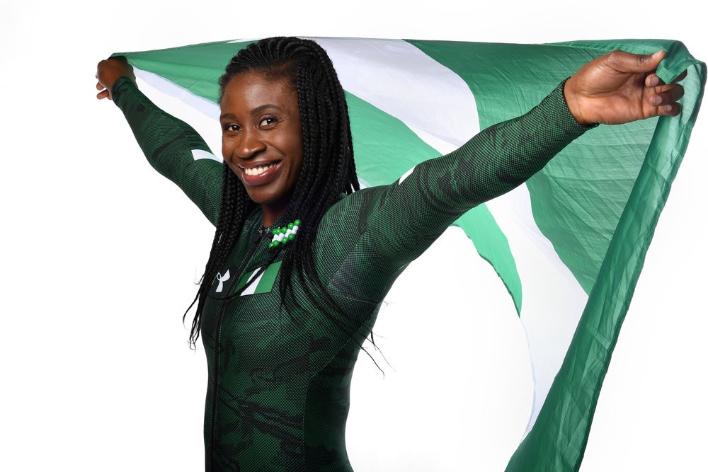 Simi will compete in the 2018 Olympics as the first female skeleton athlete from Africa. (Courtesy of Candice Ward)