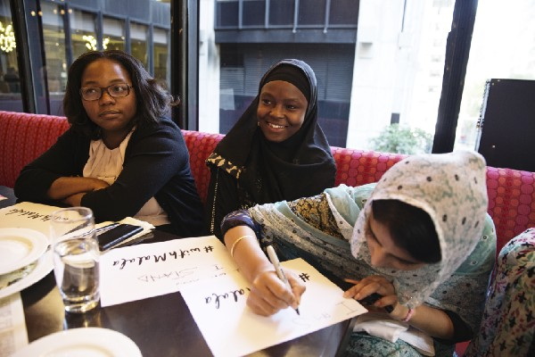 Amina spent time with other girls in New York City during 2015 UNGA week.
