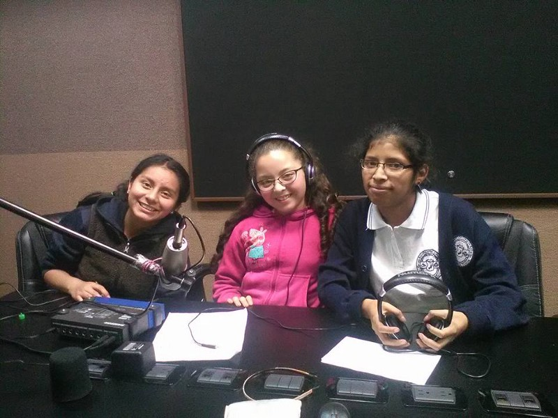 Rise Up's Let Girls Lead network records Radio Journals with the theme of violence prevention. (Courtesy of Rise Up)